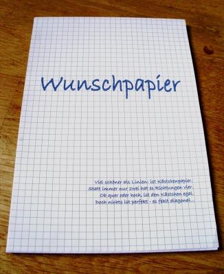 Wunschpapier
